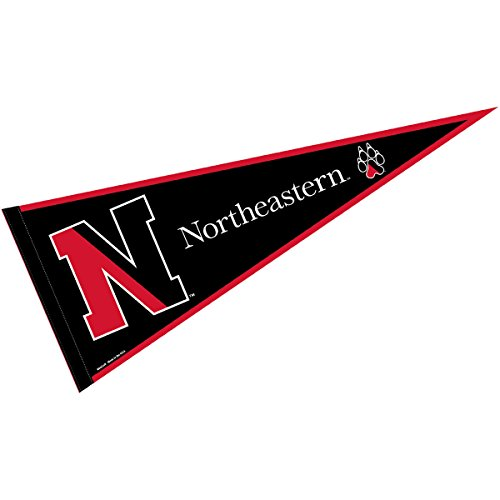 College Flags and Banners Co. Northeastern University Pennant Full Size Felt