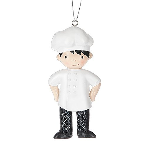 Ornament Chef Christmas - Boy Gourmet Cook Chef Master Resin Stone Christmas Ornament Figurine by Midwest-CBK