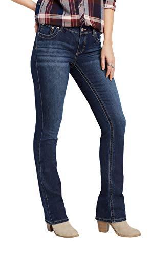 maurices Women's Denimflex TM Dark Wash Slim Boot Jean 8 Dark Sandblast ()