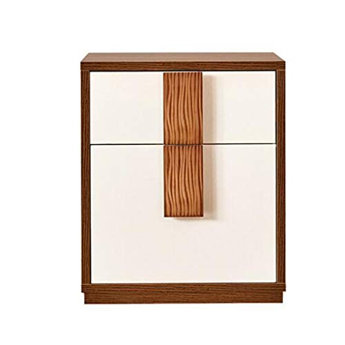 Jia He Nightstand Drawer Locker-Bedside Table Nightstand Plate Double Drawer Modern Simplicity Storage Bedside Cabinet Bedroom Furniture @@