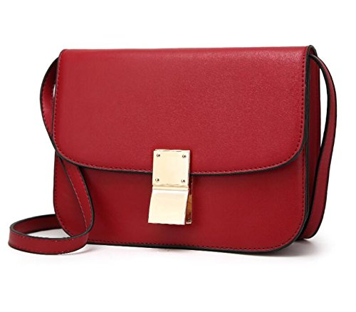 Lady Rouge Bandoulière Pochette Or Bouton À PU Noir Red Sac Sac Pochette ZHANGOR gdzwqBg