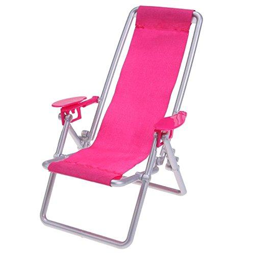 (GreenSun TM Miniature Dollhouse Furniture Foldable Deckchair Lounge Beach Chair Deckchair For Barbie Dolls House Props Pretend Play Toys )