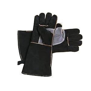 Guanti in pelle con cuciture in Kevlar estremamente resistenti al calore e al fuoco, perfetti per camino, fornelli… 2 spesavip