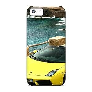 Top Quality Protection 2009 Lamborghini Gallardo Lp560 4 Spyder 2 Case Cover For Iphone 5c