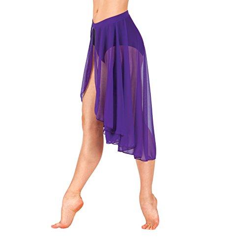 Adult Mid Length Mesh Dance Skirt,BW9104WHTML,White,ML
