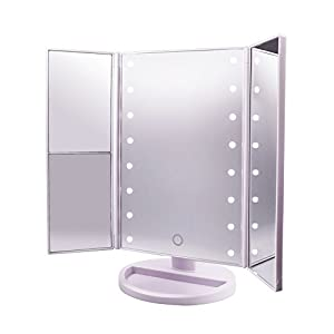 Lighted Makeup Mirror Carboss Touch Screen 180