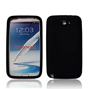 Slim Fit Silicone Case for Samsung Galaxy Note 2 II N7100 Jelly Guard Shell Protector Android Smartphone (Black)