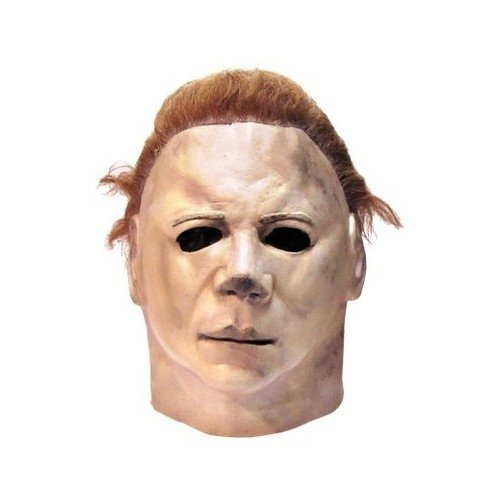 Mike Myers Costumes (Adult Costume Mask for Halloween Costumes-Mike Myers Face Mask with Camel Hair Full-Head Coverage Mask)