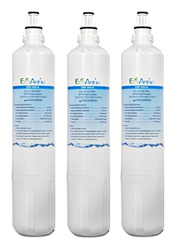 EWF-8000A EcoAqua Under Sink Water Filter Replacement for 3M AP3-C1101 (3-Pack) by EcoAqua
