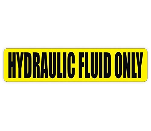 1 PC Impassioned Unique Hydraulic Fluid Only Window Sticker Sign Mac Macbook Laptop Wall Graphics Machinery Safety Caution Oil Door Label Decor Vinyl Art Stickers Size 3/4