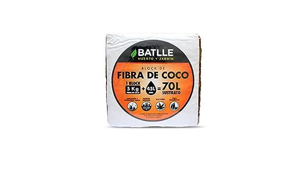 Sustrato de fibra de coco 5 kg: Amazon.es: Jardín