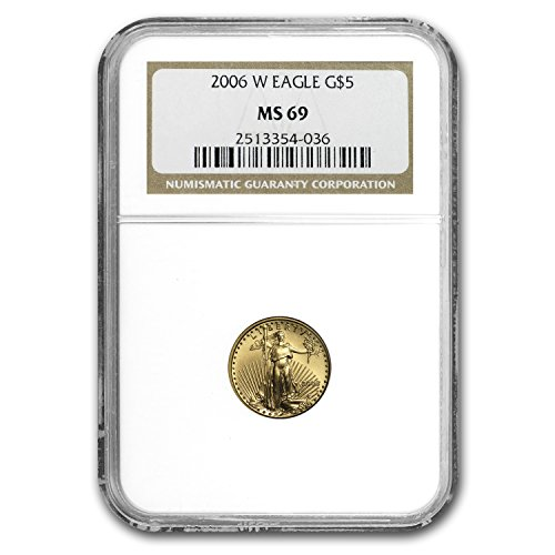 2006 W 1/10 oz Burnished Gold American Eagle MS-69 NGC Gold MS-69 NGC