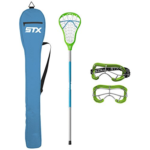 STX Lacrosse Exult 200 Starter Pack Lizard/Electric (Best Lacrosse Stick For Beginners)