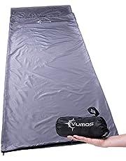 Vumos Sleeping Bag Liner and Camping Sheet – Silk Like Material for Travel - Has Full Length Zipper