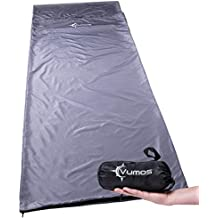 Sleeping Bag Liner and Camping Sheet – Use as a Lightweight Sleep Sack when you Travel - Has Full Length Zipper
