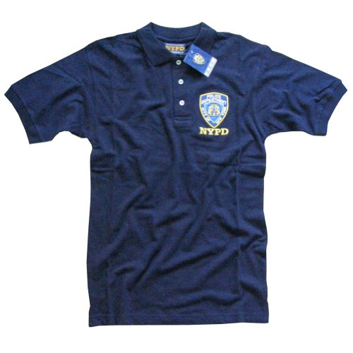 NYPD POLO SHIRT, Officially Licensed Embroidered New York Police Department Shirt, Navy M