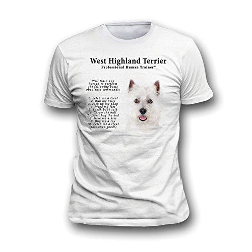 West Highland Terrier Westie Trainer (West Highland Terrier Westie Human Trainer Adult T Shirt - 3XL)