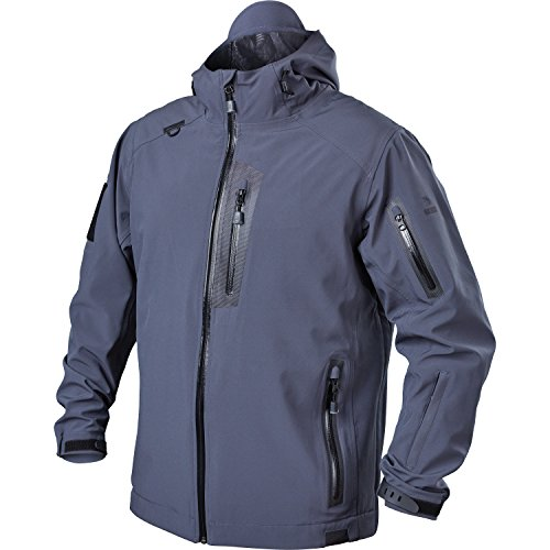 (BLACKHAWK! Men's Tactical Soft Shell Jacket, Large, Slate)