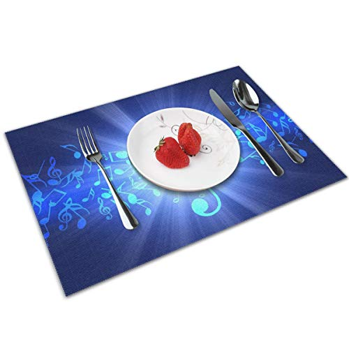 Candy Ran Music Note Indoor/Outdoor Placemats/Place Mats/Table Mats