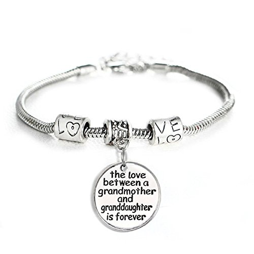 YEEQIN Love Between a Grandmother and Granddaughter is Forever Bracelet Family Jewelry ()