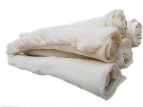 9-10-Inch-Natural-Rawhide-BonesSticksRolls-for-Large-BreedsDogs