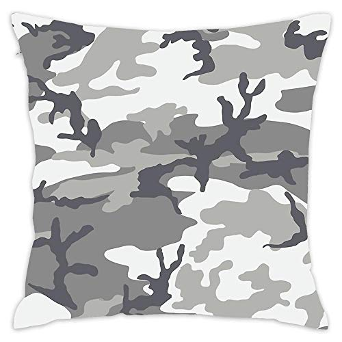 Lovwepilo Metro Camo Throw Pillow Cover Decorative Square Pillow Covers Square Cushion Case Sofa Durable Modern Stylish (18