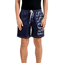 "Hugo Boss ""Killifish BM"" Men's Navy Blue Swim Board Shorts US M IT 50"