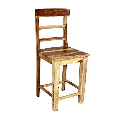 Cheap Porter Designs ISA-9026N Taos Counter Chair Solid Sheesham Wood 24″, Natural
