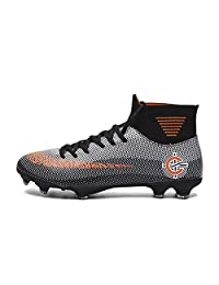 No.66 Town Men's Women's Cleats Long Studs High-top Socks AG Soccer Training Shoes for Younth