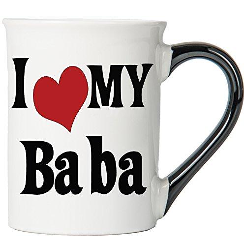 I Love My Baba Large 20 Oz. Coffee Mug; Baba Ceramic Coffee Cup; Baba Gift By Tumbleweed