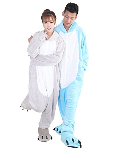 Ideas Easy For Costume Couples (Duraplast Adults Funny Christmas Costume for Couples Hoodie One-Piece Hippo)