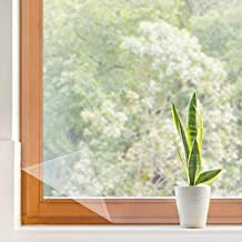 "Window Insulation Kit, 2 Pack Indoor Heat Shrink Cling Film Weatherproofing Insulator Kits for 10-Windows Winter Save Energy Transparent Patio Door Seal Wrap Weatherization Film (62 x 210"" x 2 Pack)"