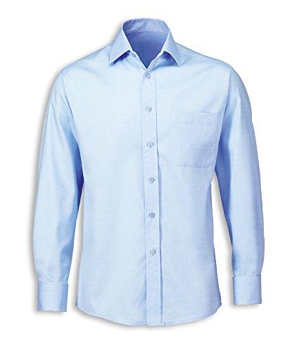 Alexandra pflegeleichte stc-nm164pb-16Herren Twill Shirt, Uni, 75% Baumwolle/25% Polyester, Größe: 16, hellblau
