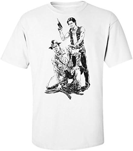 Han Solo Indiana Jones Harrison Ford Mens T-Shirt: Amazon.es: Ropa y accesorios