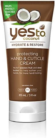 Yes To Coconut Hydrate & Restore Protecting Hand & Cuticle Cream, 3 Ounce