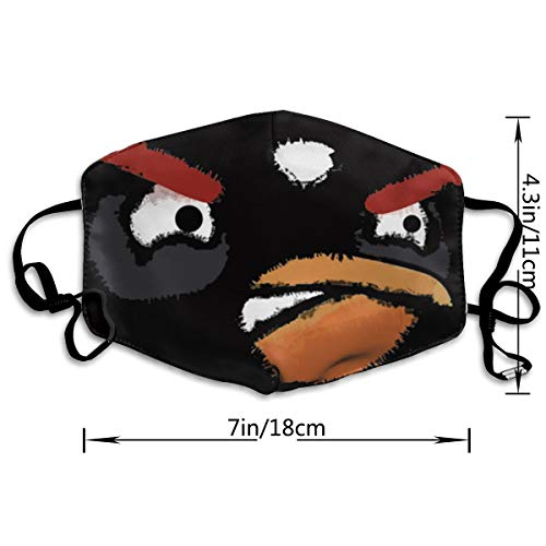 UxaliO Angry Birds Fashion Print Mask Recyclable Mask Dust Mask Anti-Dust Mask