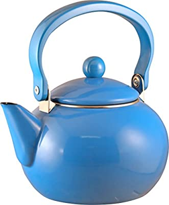 Calypso Basics 2-Quart Enamel-on-Steel Teakettle, Azure