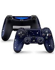 PS4 Controller Skins van 46 North Design, 3M Vinyl Technologie, Lucht Marine Nacht Sterren Eclipse Zonne Maan Glans Wit Blauw, Duurzaam, Geschikt PS4 Regular, Pro, Slim controllers, Gemaakt in Canada