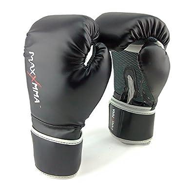 "MaxxMMA Pro Style Boxing Gloves 12,14 or 16 oz + 180"" Hand Wrap in Random Color"