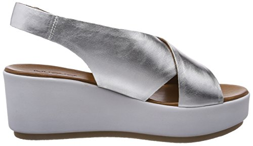 Inuovo Women's 8697 Open Toe Sandals Silver (Silver 16778935) KmiPNcn