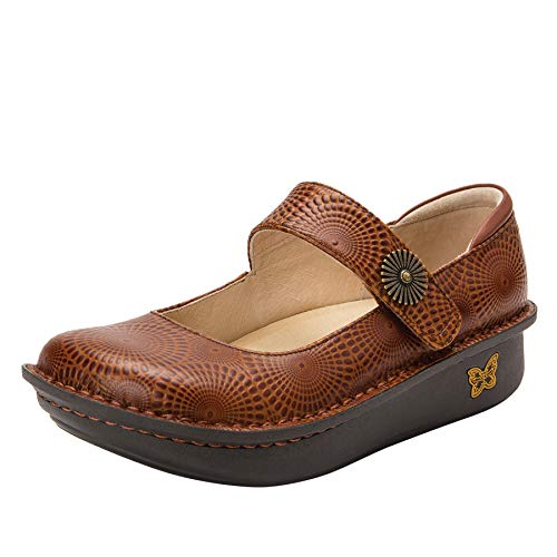 Alegria Paloma Womens Mary Jane Shoe Brandy 8 M US (Leather Footwear Brandy)