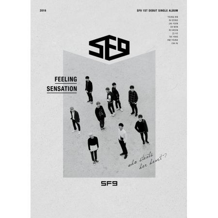 SF9 - [FEELING SENSATION] 1st Debut Single Album CD+Photo Book+PhotoCard Sealed