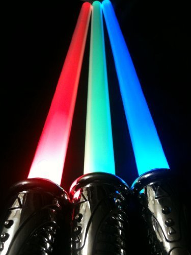 Light Saber with Star Wars Sounds 3 Colored Red Blue and Green All in 1 by blinkee (Blue Light Sabre)