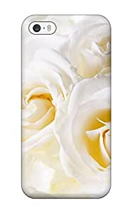 Hot White Roses First Grade Tpu Phone Case For Iphone 5/5s Case Cover