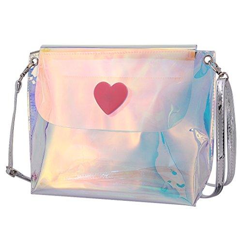Novia Boutique Donna Ragazza Lucido Moda Ologramma Pvc Spalla Messenger Bag Per La Festa