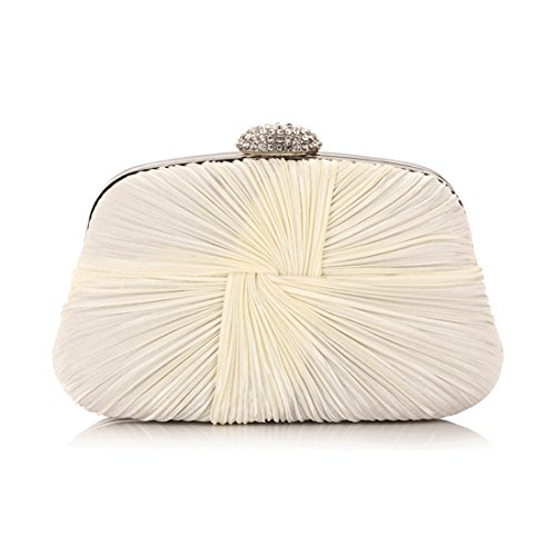 American Bag Bag Women's Folds Ruili Dinner New European Fly evening Banquet Bag bag Beige EqFTf