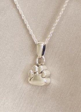 Ever My Pet Paw Pendant Cremation Urn Silver by Ever My Pet