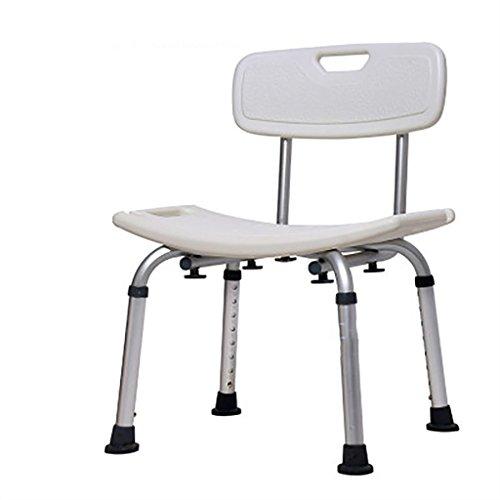 Taburete de ducha\ Silla de ducha Banqueta de baño Silla de ducha de aluminio Ayuda para discapacitados Silla de baño...