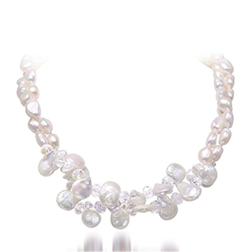 Bang-pa Luxury 9-10MM White Baroque Pearl & Crystal Necklace Wedding Jewelry, Coin Pearl - Store Locator Tiffanys