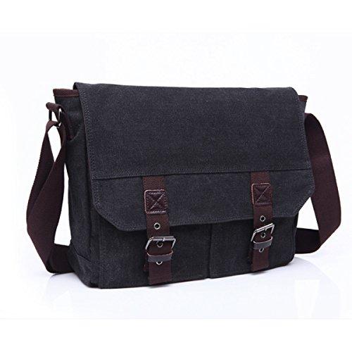 Man Canvas Shoulder Messenger Bag Walking Business Travel Package, C3 C4